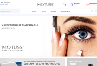 Website motuss.ru desktop preview
