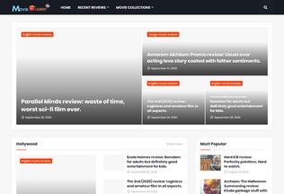 Website movielaundry.in desktop preview