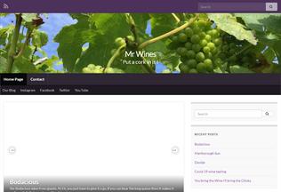 Website mrwines.co.uk desktop preview