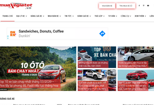Website muaxegiatot.vn desktop preview