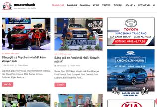 Website muaxenhanh.vn desktop preview