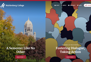 Website muhlenberg.edu desktop preview