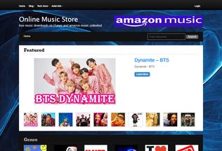 Website music-store.co desktop preview
