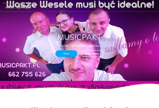 Website musicpakt.pl desktop preview