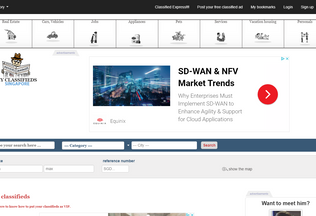 Website my-classifieds.sg desktop preview