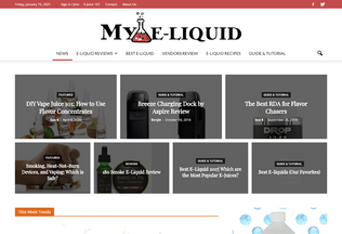 Website my-e-liquid.com desktop preview