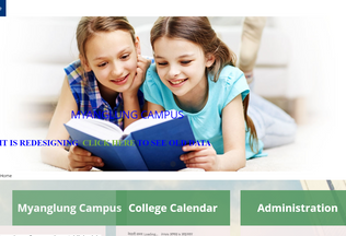 Website myanglungcampus.edu.np desktop preview