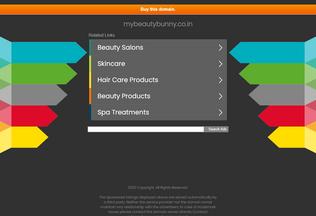 Website mybeautybunny.co.in desktop preview