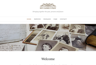 Website myfamilypast.co.uk desktop preview