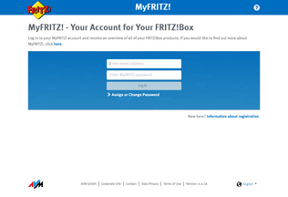Website myfritz.net desktop preview