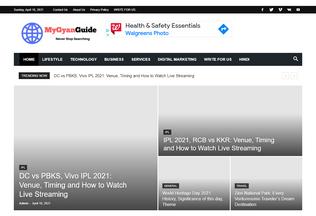Website mygyanguide.com desktop preview