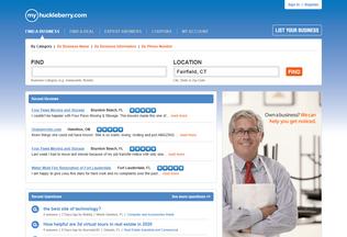 Website myhuckleberry.com desktop preview