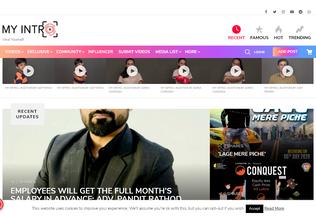 Website myintro.in desktop preview