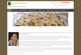 Website myminikitchen.co.uk desktop preview