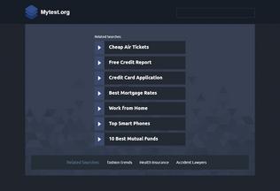 Website mytest.org desktop preview