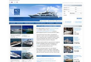 Website mzyachts.ru desktop preview