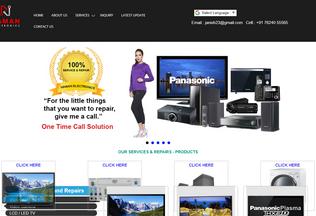 Website namanelectronics.in desktop preview