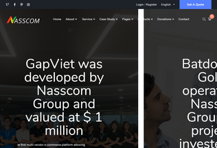 Website nasscom.vn desktop preview