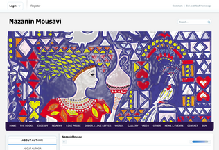 Website nazaninmousavi.com desktop preview
