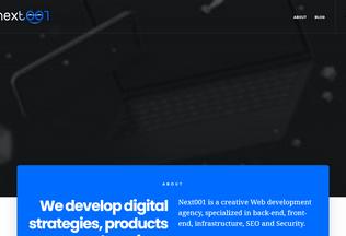 Website next001.me desktop preview
