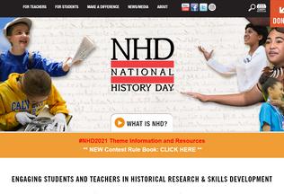 Website nhd.org desktop preview