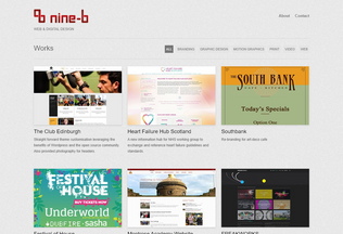 Website nine-b.co.uk desktop preview