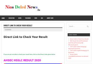 Website niosdelednews.in desktop preview