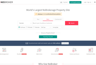 Website nobroker.com desktop preview