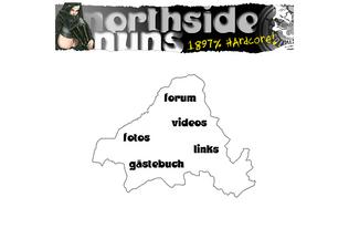 Website northside-nuns.de desktop preview