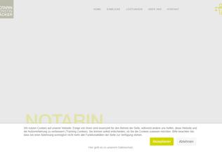 Website notarin-zacker.de desktop preview
