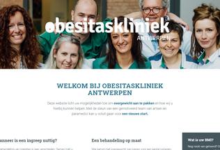 Website obesitaskliniekantwerpen.be desktop preview