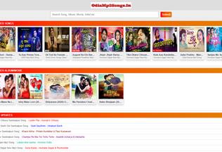 Website odiamp3songs.in desktop preview