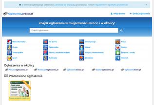 Website ogloszeniajarocin.pl desktop preview