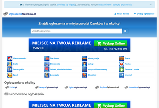 Website ogloszeniaozorkow.pl desktop preview