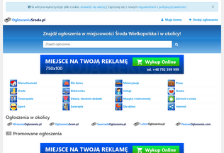 Website ogloszeniasroda.pl desktop preview