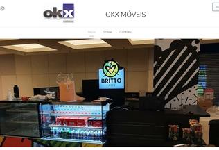 Website okxmoveis.com.br desktop preview