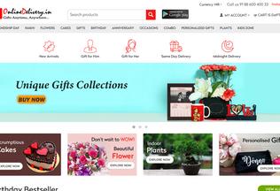Website onlinedelivery.in desktop preview