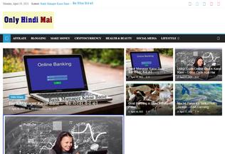 Website onlyhindimai.com desktop preview