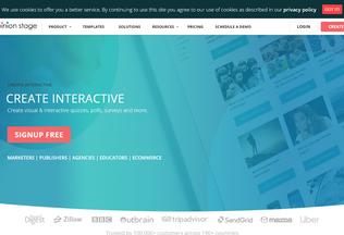 Website opinionstage.com desktop preview
