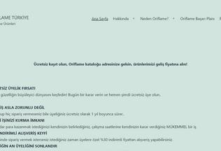 Website orflameturkiye.com desktop preview