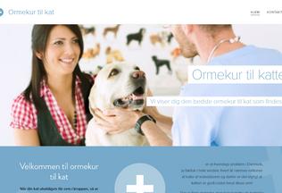 Website ormekur.webnode.dk desktop preview