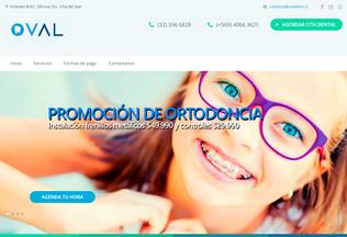 Website ovaldent.cl desktop preview