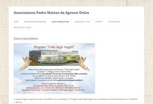 Website padrematteodaagnoneonlus.it desktop preview