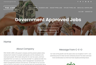 Website pakhousejobs.pk desktop preview