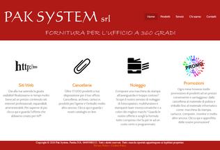 Website paksystem.it desktop preview