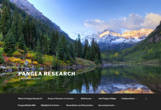 Website pangea-research.org desktop preview