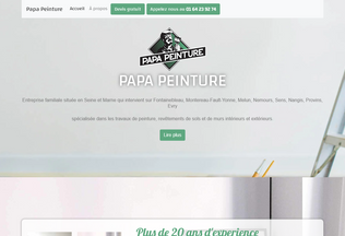 Website papapeinture.fr desktop preview