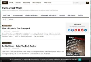 Website paranormalworld.net desktop preview