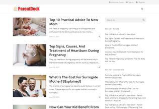 Website parentdeck.com desktop preview