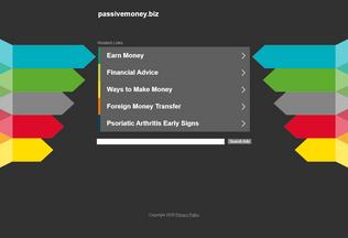 Website passivemoney.biz desktop preview